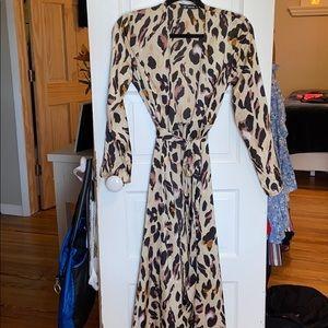 women's silk wrap dress